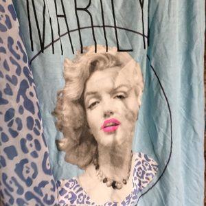 Marilyn Monroe  tank top animal print back blue XL